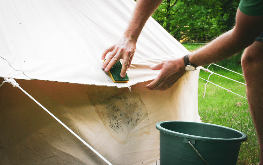 Entretien de la tente en toile
