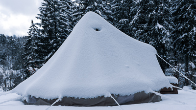 Snow Load on Canvas Tents