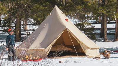 How to Pitch a Tent in Deep Snow