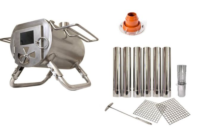 Gstove Heat View Portable Tent Stove  sc 1 st  CanvasC& & Gstove Heat View   Portable Stoves   Tent Stoves   CanvasCamp