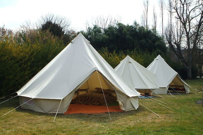 Sibley 500 Standard Canvas Bell Tent & Sibley 500 Standard | 100% Cotton Canvas Bell Tents | Canvascamp ...