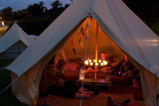 Single tea light chandelier tent decorations canvascamp single tea light chandelier tent decoration aloadofball Gallery