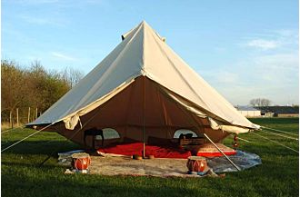 sibley 400 bell tent exotic beach glamping