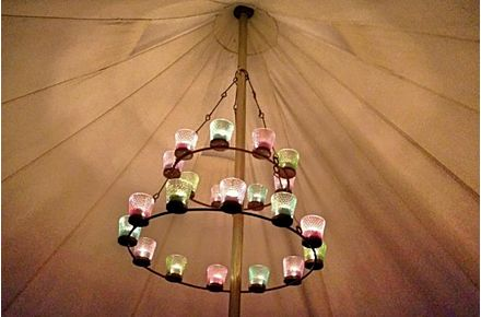 Double Tea Light Chandelier
