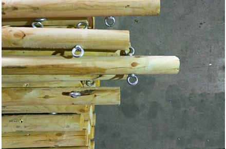 Stretch Tent Wooden Pole Set