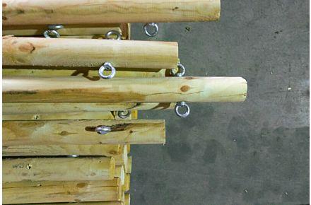 Stretch Zelt Holzstange Set