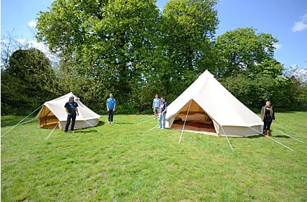 open 600 ultimate bell tent glamping