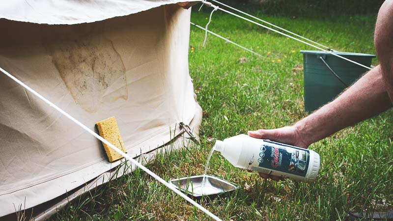 Canvas Tent Cleaning