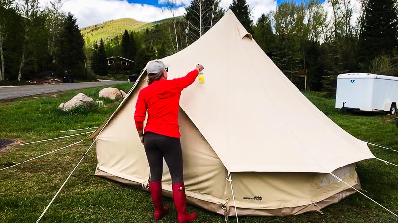 Canvas Tent Waterproofing Treatment