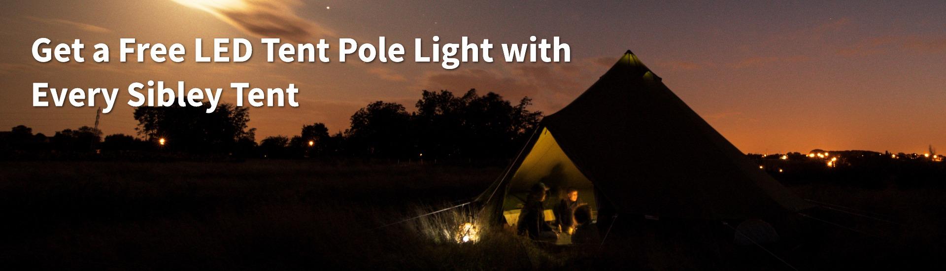 Free LED Light Bell Tent Promo