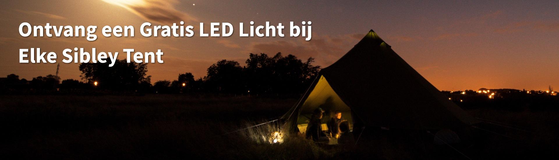 Gratis LED licht promo bell tenten