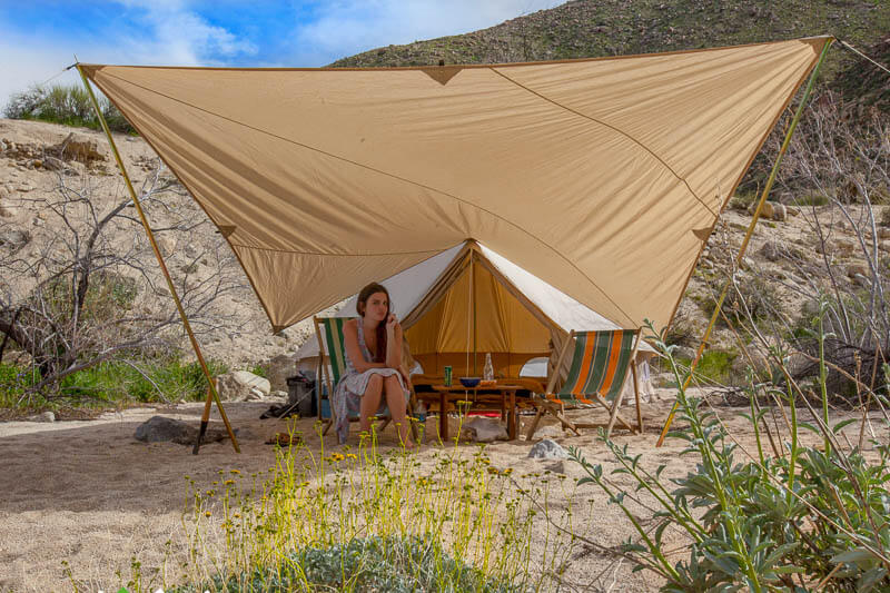 Canvas Tent Accessory Awning