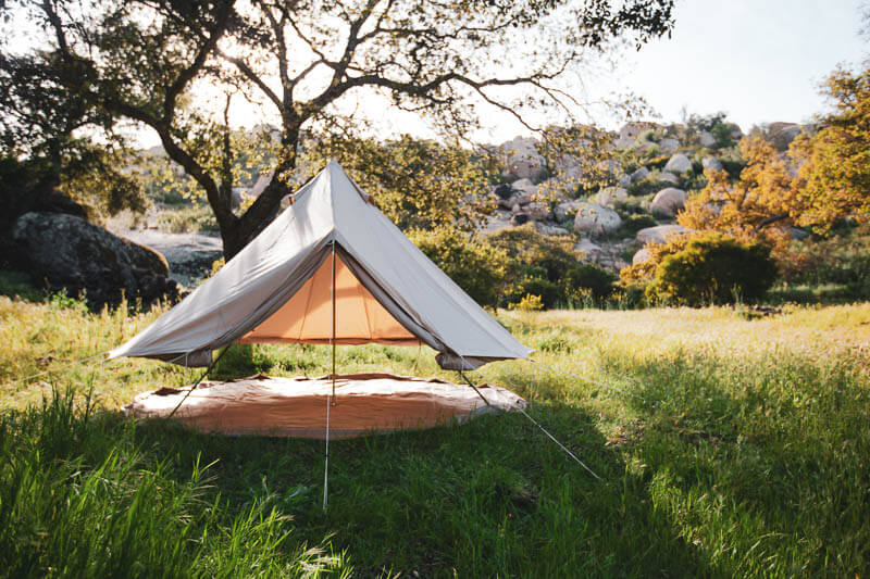 Sibley Glamping Tent Roll Up Side Walls