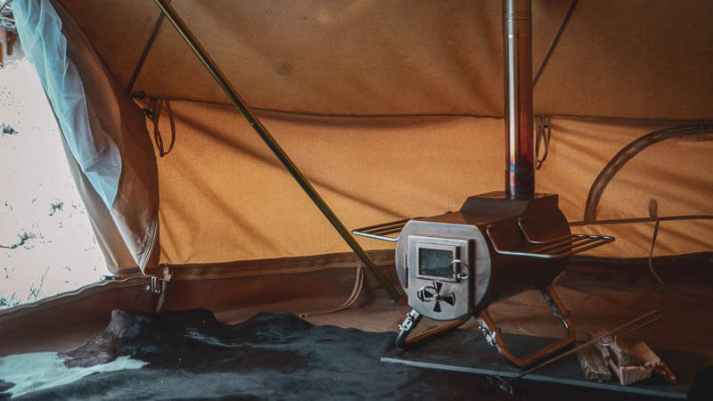 Tent Stove Compatible Tent