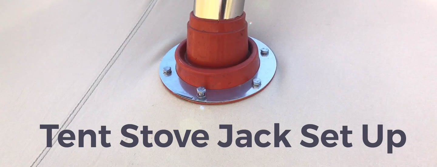 How to Install a Tent Stove Jack - Wood Burning Tent Stoves