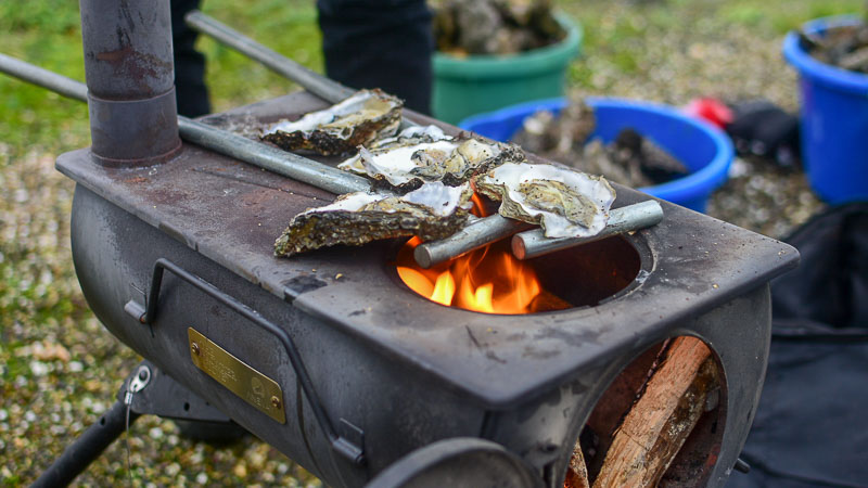 Tent Stove Cooking