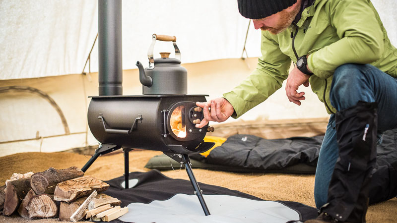 Tent Stove Working