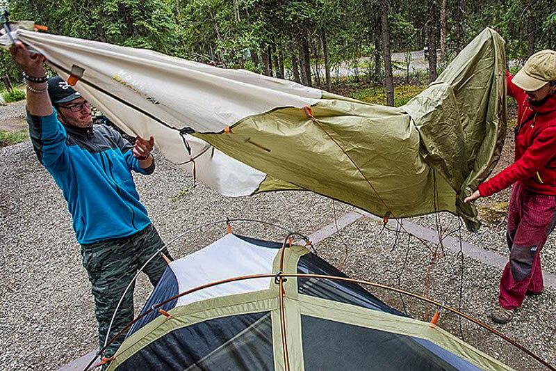 Plastic Tent Ventilation