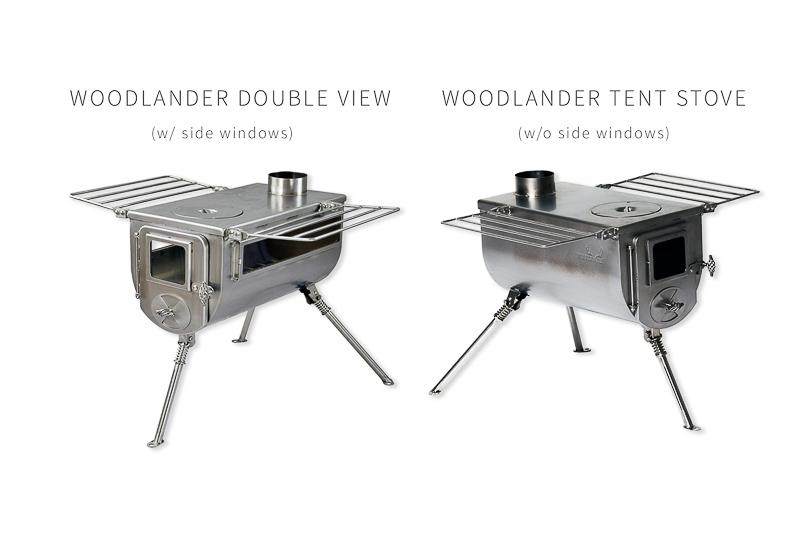 Woodlander Tent Stove vs Double View Tent Stove