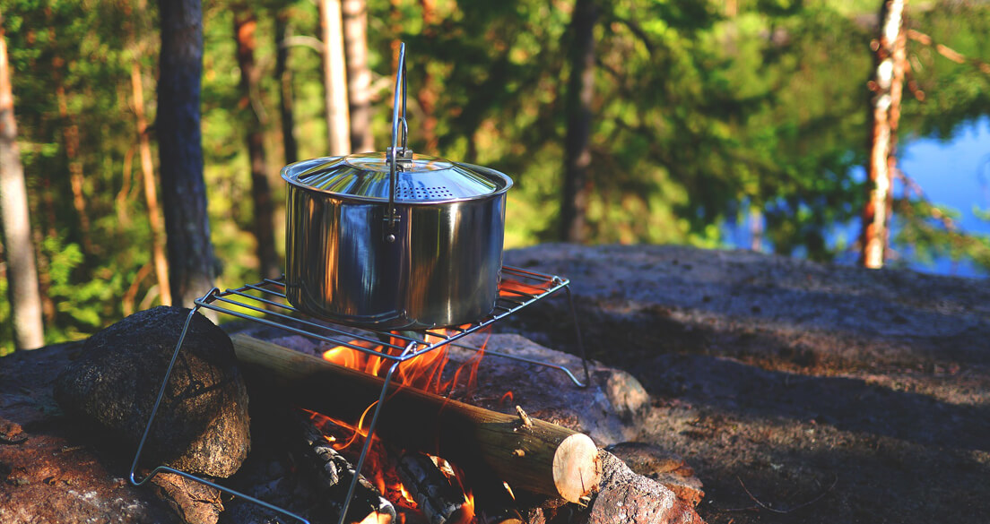 boil water while camping to purify